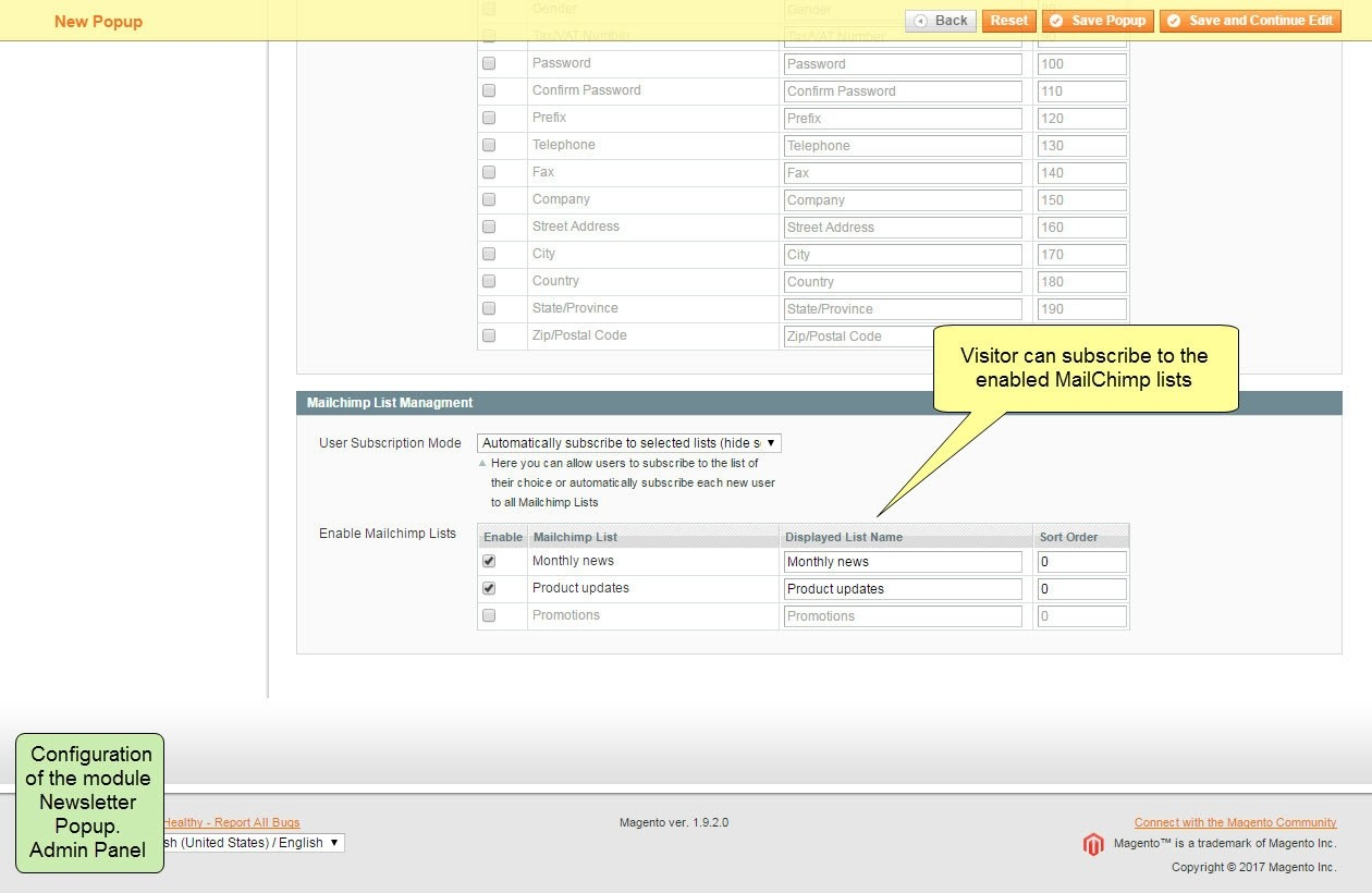 Nieuwsbrief Popup Extensie voor Magento 1-95