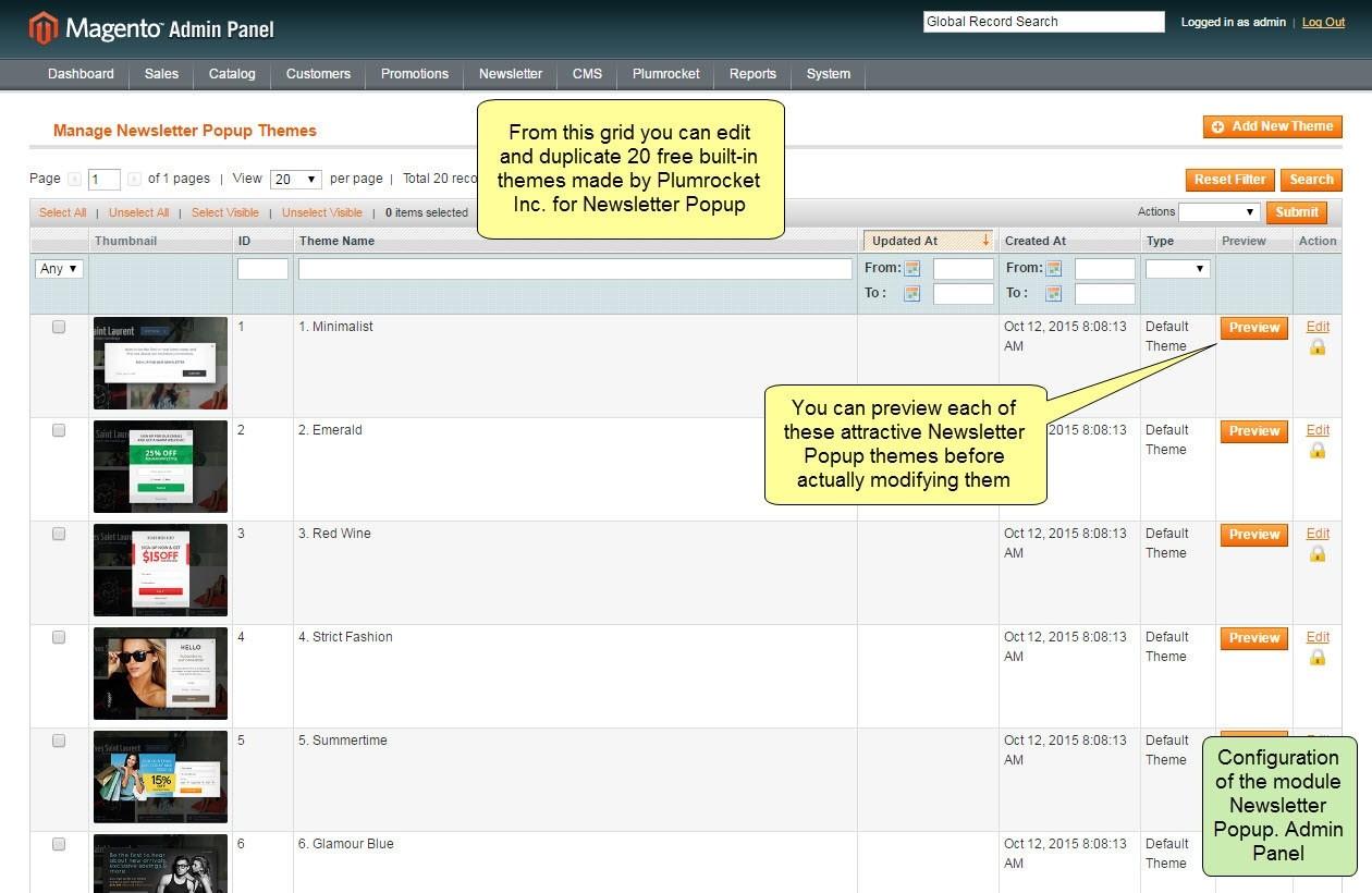 Nieuwsbrief Popup Extensie voor Magento 1-101