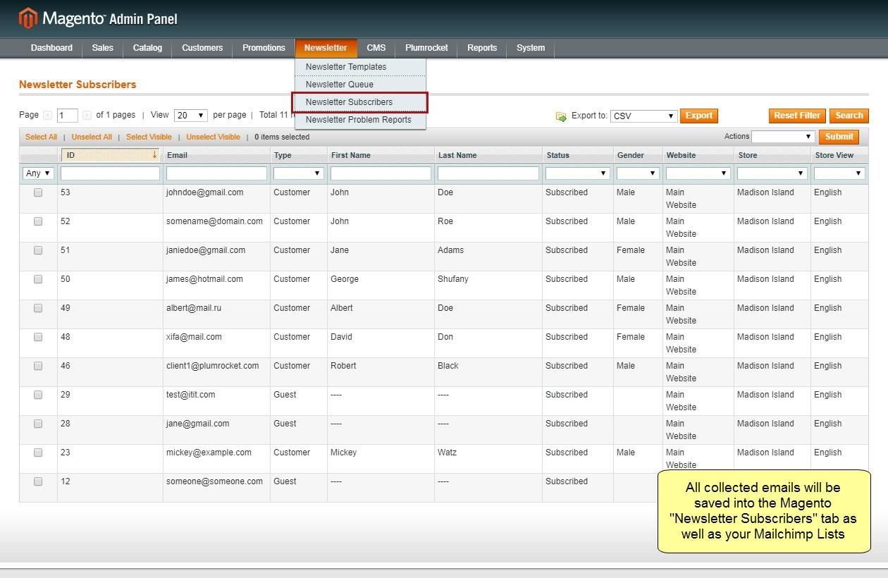 Nieuwsbrief Popup Extensie voor Magento 1-105