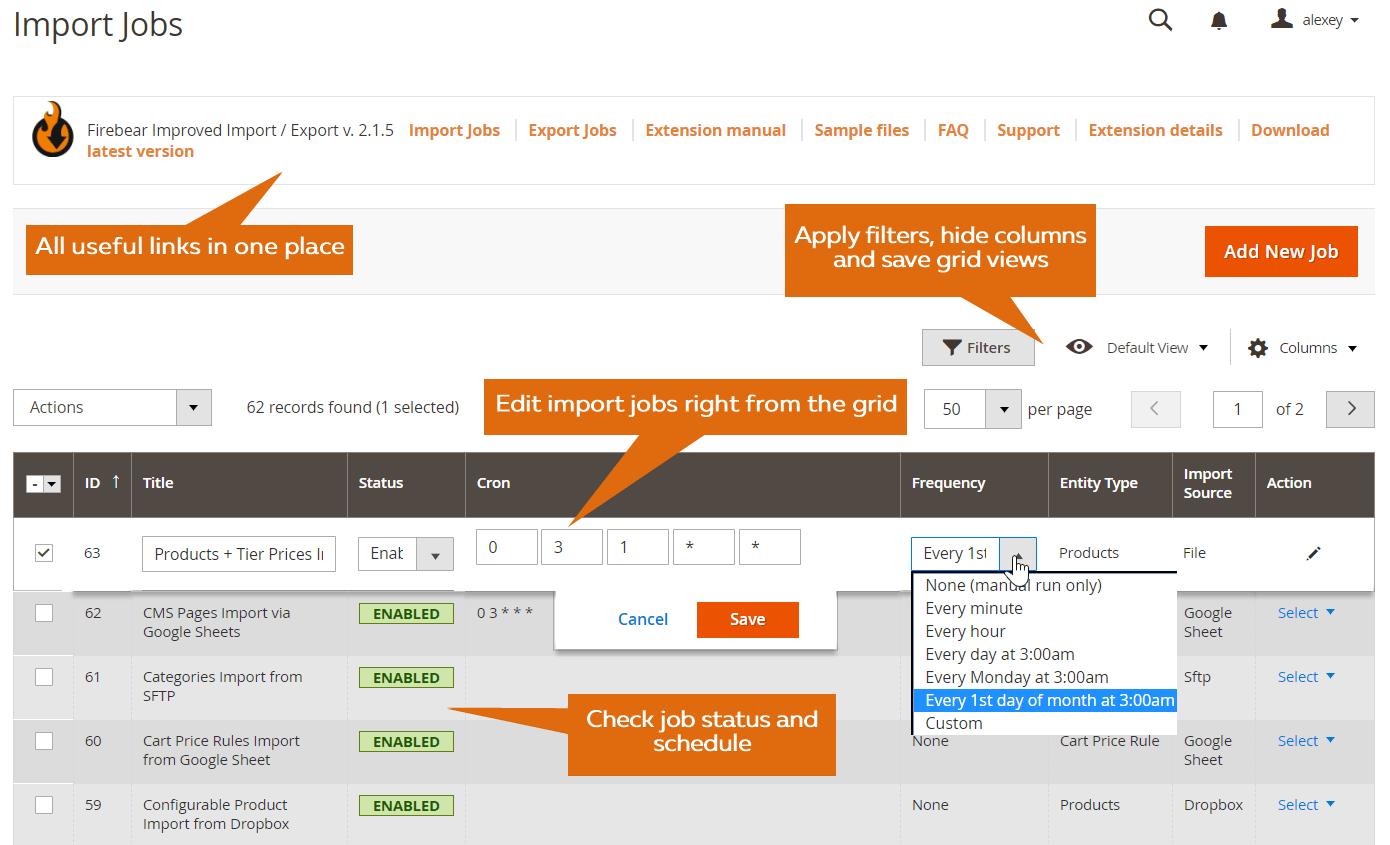 Verbeterde Import & Export voor Magento 2-107