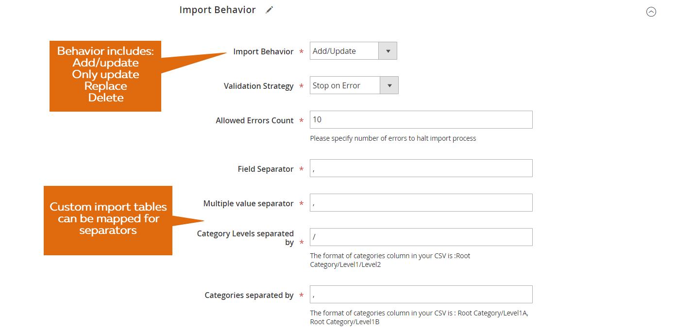 Verbeterde Import & Export voor Magento 2-110